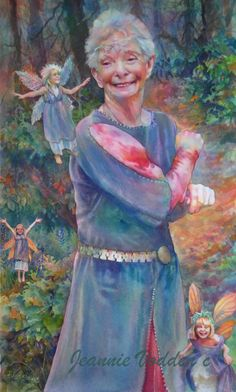 Mother Nature's Magic Mother nature with some delightful fairies. Watercolor Portrait Painting, Watercolor Drawing, Fantasy Inspiration, Painting Inspiration, Fantasy Photography, Fairy Art, American Artists, Fantasy Art, Fantasy Fairies