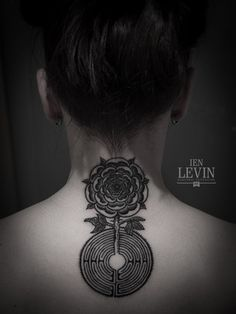ien levin flash - Tudor Rose and Chartres Cathedral labyrinth.
