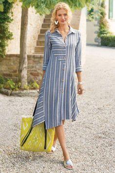 Soft Surroundings Dresses - Plus-size Standout Dress Simple Dresses, Casual Dresses, Summer Dresses, Vacation Dresses, Beach Dresses, Linen Dresses, Cotton Dresses, Dresses Uk, Smocked Dresses