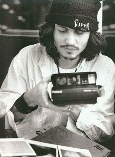 Johnny with Polaroid