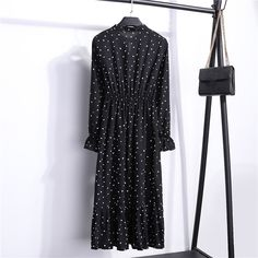 Stand collar polka dot chiffon women dress flare sleeve side split dress spring midi vestidos xxl Women Elegant Summer Spring New Arrival Half Sleeve Print Dot Ruffles Straight Dress Plus Size Xl Xxl 2019 Belt Shift Dresses Belted Shirt Dress, Ruffle Dress, Boho Dress, Ruffles, Bodycon Dress, Short Summer Dresses, Spring Dresses, Short Sleeve Dresses, Mini Dresses
