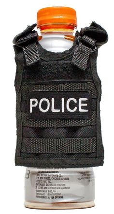 Miniature Tactical Vest Beverage Koozie - POLICE