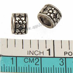Zinc Alloy Round Flower Large Hole Beads,Plated,Cadmium And Lead Free,Various Color For Choice,Approx 8.5*6mm,Hole:Approx 5.5mm,Sold By Bags,No 010024