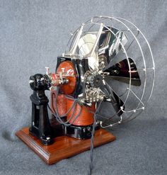 Antique electric fan from the late 1890s.