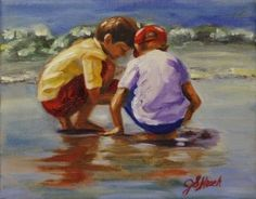 Beach Scenes   Original Fine Art by Jennifer Koach
