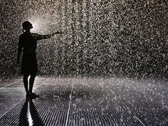 "The ""Rain Room"" lets you walk through a rainstorm without getting wet. LA County Museum of Art."
