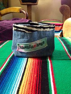 Little denim coin purse handmade