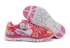 [q360] Sast En Ligne Nike Free TR FIT 3 BREATHE Femme Rose Blanc Impression