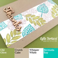 Kylie Bertucci - Holiday catalogue sneak peek - Lighthearted Leaves. Card made for The Paper Players Colour Challenge. Click on the photo to see more of Kylies projects.