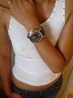 Women wear Panerai Watch