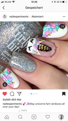 Little Girl Nails, Girls Nails, Girls Nail Designs, Nail Art Designs, Aloha Nails, Unicorn Nails, Cute Nails, Acrylic Nails, Graduation