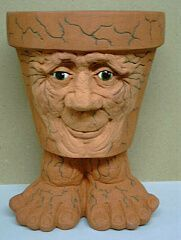 At Marino's Serenity Ceramics we call this the Old man waggle pot! You have the option of having the feet or not.