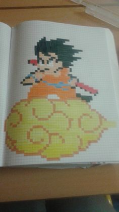 sangoku pixel art pinterest goku art et pixel art. Black Bedroom Furniture Sets. Home Design Ideas