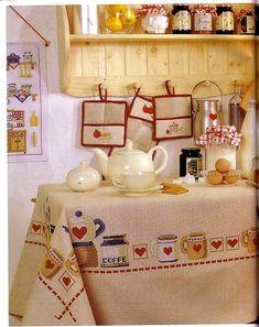 Kitchen motifs free cross stitch patterns