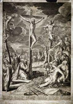 Christ on the Cross between the Two Thievesby Aegidius Sadeler II- 1590