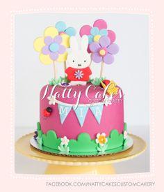 © Natty Cakes Custom Cakery | Miffy Cake Bunny Birthday, Baby 1st Birthday, First Birthday Parties, Birthday Cakes, First Birthdays, Miffy Cake, Nurse Party, Diy And Crafts, Crafts For Kids