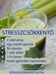 Stresszcsökkentő turmix Healthy Juices, Healthy Drinks, Healthy Snacks, Healthy Eating, Healthy Recipes, Clean Eating Recipes, Cooking Recipes, Foods To Eat, Smoothie Recipes