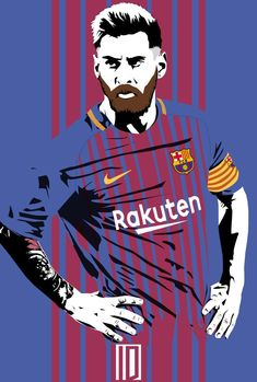 Footballer Lionel Messi (FCB Canvas Posters Oil Painting Pictures Printed for Wall Art Decor/ Ho Barcelona Team, Barcelona Football, Best Football Players, Soccer Players, Fifa Football, Messi Soccer, Messi 10, Fc Barcelona Wallpapers, Messi Drawing