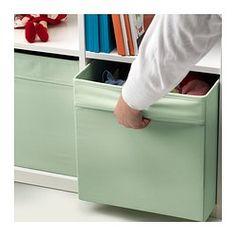 DRÖNA Box - light green - IKEA, perfect for Kallax shelf in girls playroom
