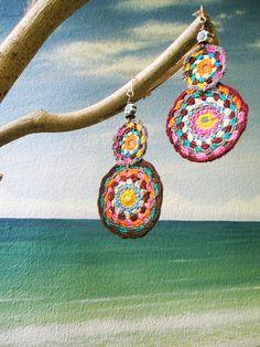 ~ crochet earring ~ by AowDusdee, via Flickr