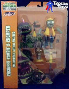 Plants Vs Zombies Garden Warfare Engineer Zombie & Chomper 5in Figure Dst Toys from $79.95