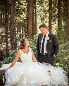 Jessica and Jonathan...that dress!  At Hidden Creek  I  Pine Rose Weddings Photo by Nicole at Love One Another Photography