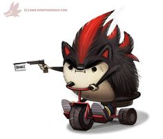 Daily Paint #990. Edgy the Hedgy (FA) by Cryptid-Creations.deviantart.com on @DeviantArt