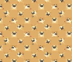 Pugs! fabric by jaana on Spoonflower - custom fabric