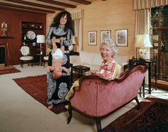 Grace Slick at home with her Mom.