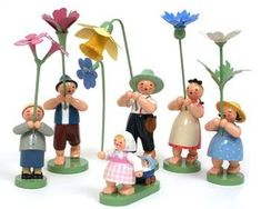 Wonderful Flower Children from Wendt and Kuehn of Germany - superb folk art - a fantastic addition to your spring...