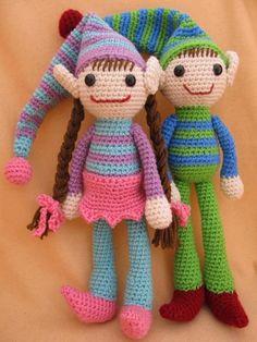 Ernie and Erline Elf Amigurumi Pattern  http://www.craftsy.com/pattern/crocheting/toy/ernie-and-erline-elf-amigurumi-pattern/16704#
