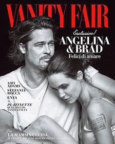 ANGELINA JOLIE & BRAD PITT FRONT THE NOVEMBER ISSUE OF VANITY FAIR ITALIA