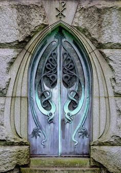 Art Nouveau Mausoleum Door