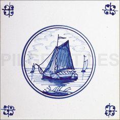 Delft Style Ceramic Tile 4