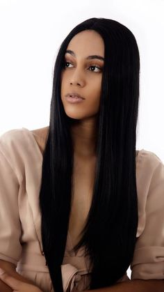 Buy wigs online Bad and Boujee by Lace Fronts Australia Get the long dark style that is so on trend right now, with the bad and boujee lace front unit Buy Wigs Online, The Long Dark, Bad And Boujee, Wigs With Bangs, Wig Styles, Dark Fashion, Brunettes, Lace Front Wigs, Straight Hairstyles