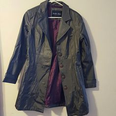 Anchor Blue trench coat Shinny  silver coat. In excellent condition. anchor blue Jackets & Coats Trench Coats
