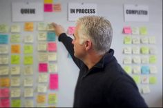 Scott Sweeney, VP of Marketing at Kubotek appears in front of his agile marketing board. Organize, Marketing, Business, Board, Store, Business Illustration, Planks