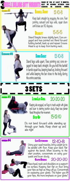 3 Sets of workouts for Killer Butt!! Click to watch the video.  http://www.flaviliciousfitness.com/blog/2013/03/06/best-butt-exercises/