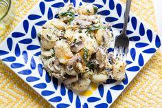 This Make-Ahead Spinach + Mushroom Gnocchi Casserole Is Perfection via Brit + Co