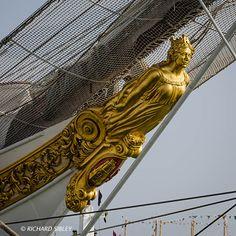 Figurehead of the Juan Sebastian de Elcano, 4 Masted Gaff Schooner. Spain