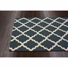 nuLOOM Hand-Hooked Alexa Moroccan Trellis Wool Rug (6' x 9') | Overstock.com Shopping - The Best Deals on 5x8 - 6x9 Rugs