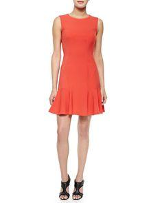 T9N2L Diane von Furstenberg Jaelyn Flare-Hem Sleeveless Dress