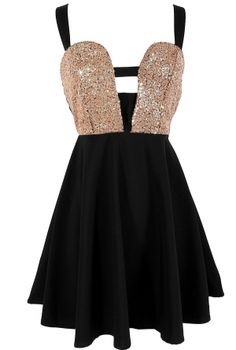 Black Dress with Sequin Embellished Top Criss Cross Back, Dress, cutout dress skater dress, Chic Ny Dress, Dress Me Up, Skater Dress, Lilly Pulitzer, Marchesa, Cheap Dresses, Formal Dresses, Inexpensive Dresses, Unique Dresses
