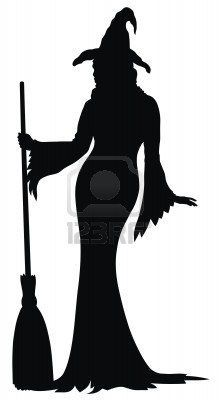 halloween silhouettes witch - Google Search