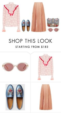 """""""Untitled #3971"""" by michelanna ❤ liked on Polyvore featuring Oliver Peoples, STELLA McCARTNEY, Gucci, Cédric Charlier and Valentino"""