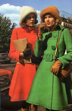 The green coat is nice :-) The 1970s-1974 Jours de France-Autumn fashion by april-mo, via Flickr