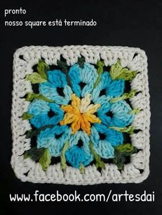 Transcendent Crochet a Solid Granny Square Ideas. Inconceivable Crochet a Solid Granny Square Ideas. Crochet Square Blanket, Crochet Blocks, Granny Square Crochet Pattern, Crochet Squares, Crochet Granny, Crochet Motif, Crochet Flowers, Knit Crochet, Granny Squares