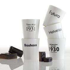 I love the Typographer Mug on markandgraham.com @CZ Design these made me think of you.