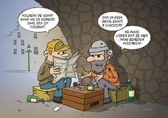 #cartoon; De #crisis is voorbij... volgend jaar gaan we er allemaal op vooruit, de ene al wat meer dan de andere ...
