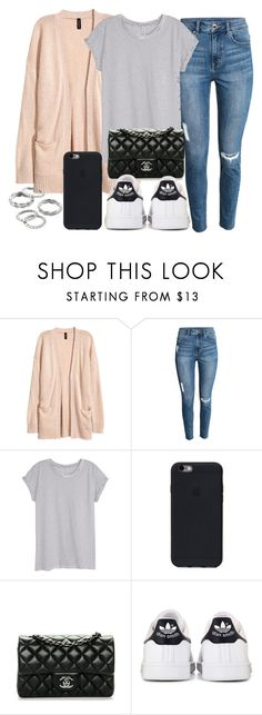 """""""#13925"""" by vany-alvarado ❤ liked on Polyvore featuring H&M, Chanel, adidas and Apt. 9"""